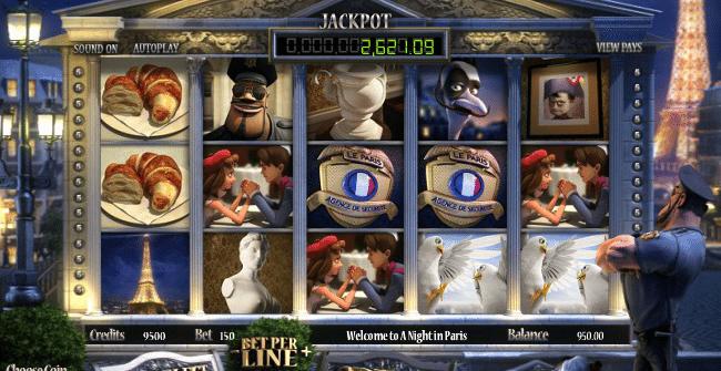 Aparatul slot A Night in Paris poate fi jucat gratuit