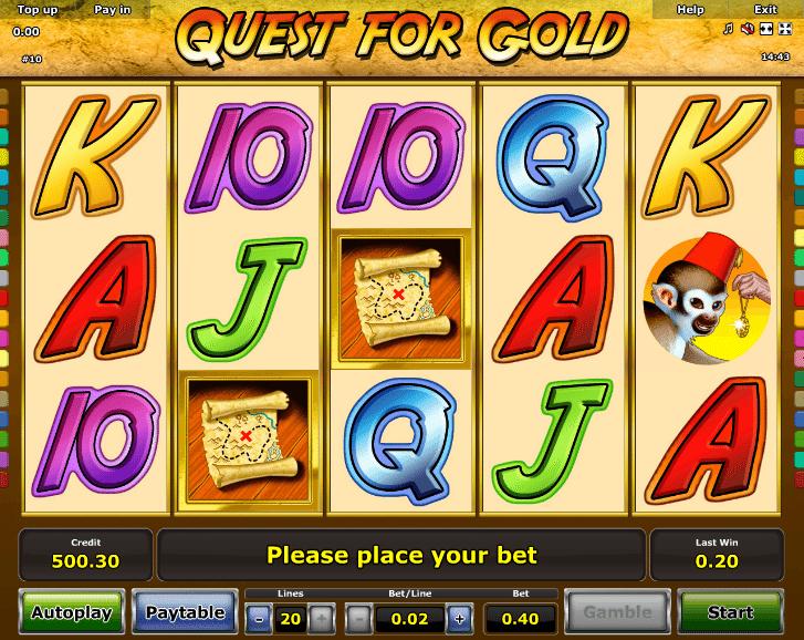 Jocuri Pacanele Quest for Gold Online Gratis