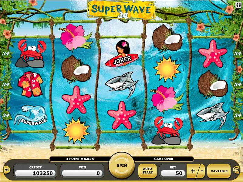 Jocul de cazino online Super Wave 34 gratuit