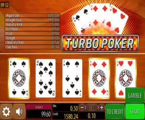 Turbo Poker gratis joc ca la aparate online