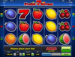 Jocul de cazino online Fruits and Sevens gratuit