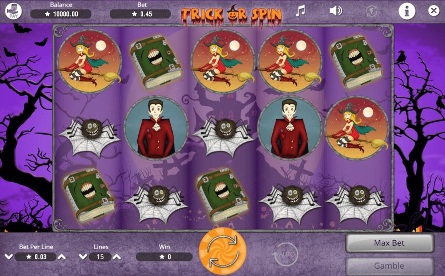 Jocuri Pacanele Trick or Spin Online Gratis