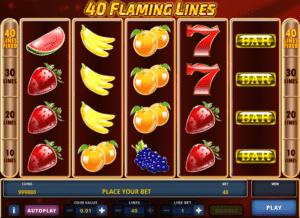 Joaca gratis pacanele 40 Flaming Lines online
