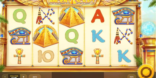Jocul de cazino online Ancient Script gratuit