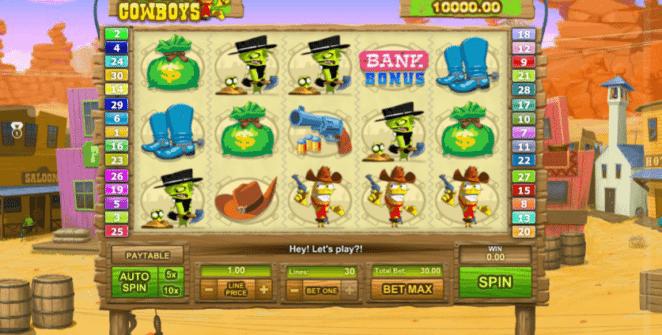 Joaca gratis pacanele Freaky Cowboysonline