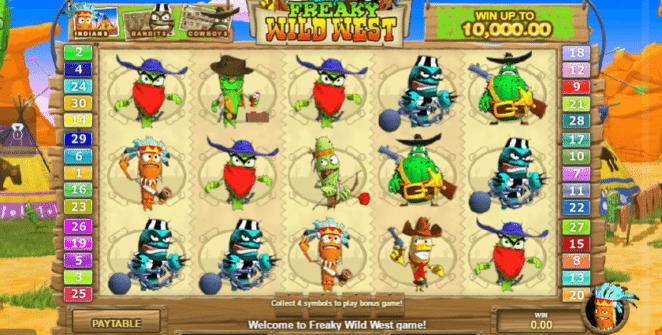 Jocul de cazino online Freaky Wild West gratuit