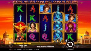 Joaca gratis pacanele 3 Genie Wishes online