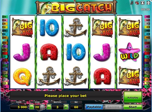 Joaca gratis pacanele Big Catch online