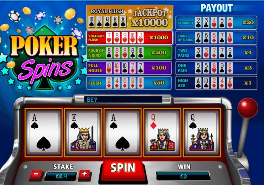 Jocuri Pacanele Poker Spins Online Gratis
