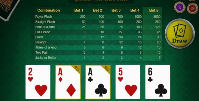 Jocul de cazino online Jacks or Better Mobilots gratuit