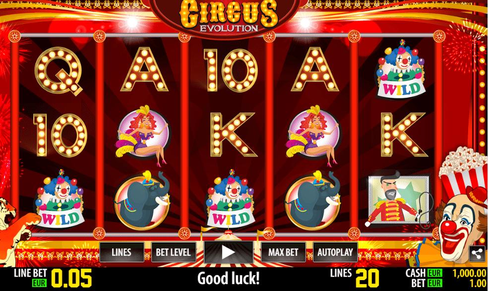 Jocuri Pacanele Circus Evolution Online Gratis