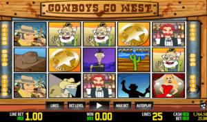 Joaca gratis pacanele Cowboys Go West online