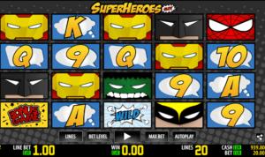 Joaca gratis pacanele Super Heroes WM online