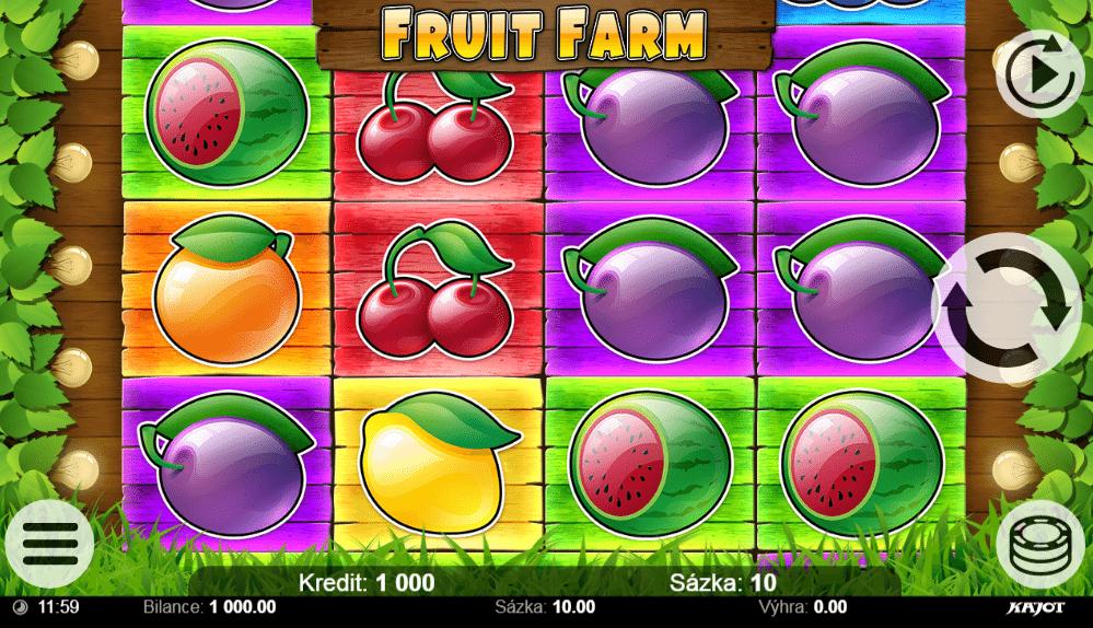 Jocul de cazino online Fruit Farm Kajot gratuit
