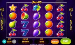 Jocul de cazino online Joker 40 gratuit