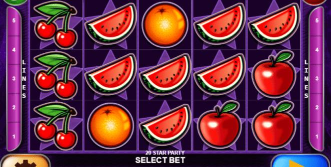 Jocul de cazino online 20 Star Party gratuit