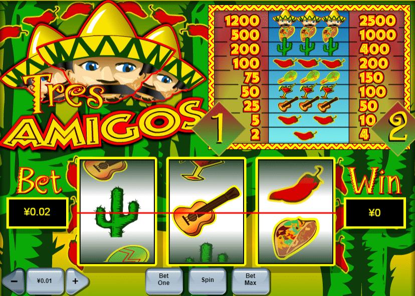 Jocul de cazino onlineTres Amigosgratuit