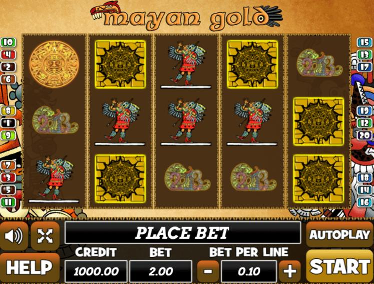 Joaca gratis pacanele Mayan Gold online
