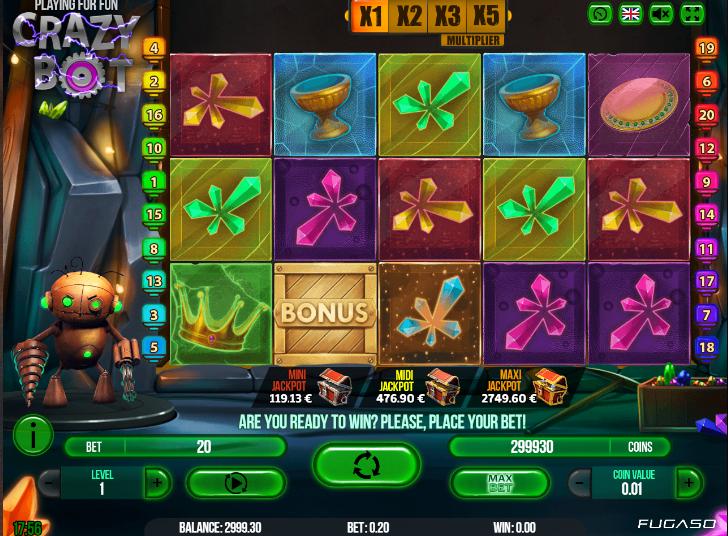 Joaca gratis pacanele Crazy Bot online