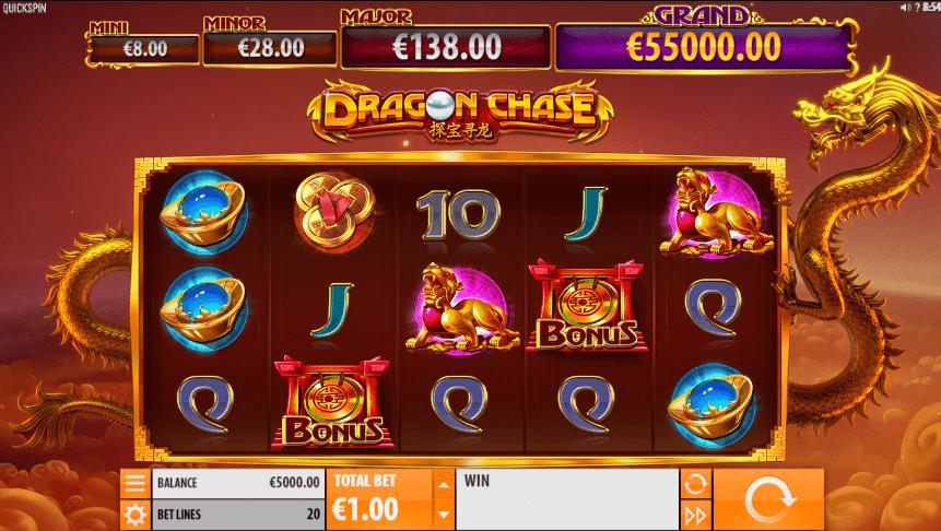 Joaca gratis pacanele Dragon Chase online
