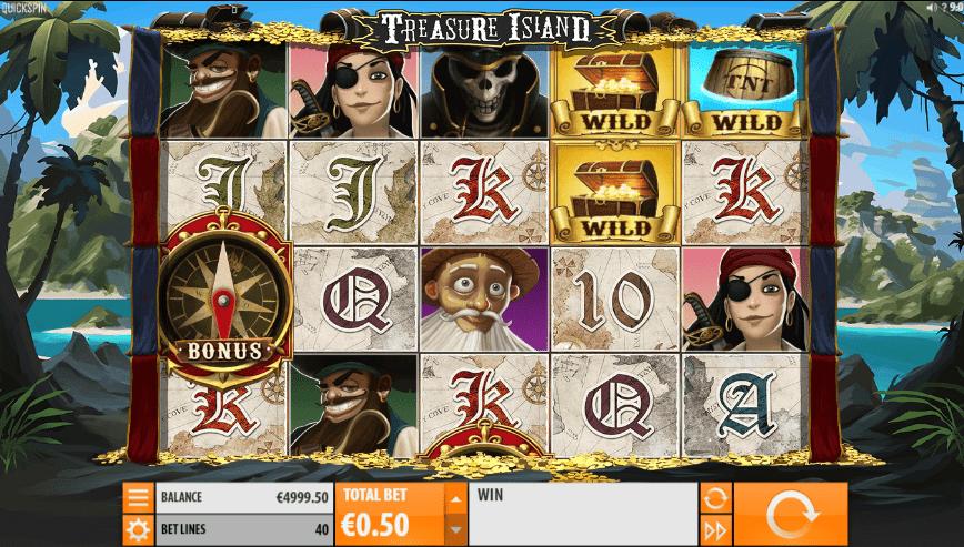 Joaca gratis pacanele Treasure Island QuickSpin online
