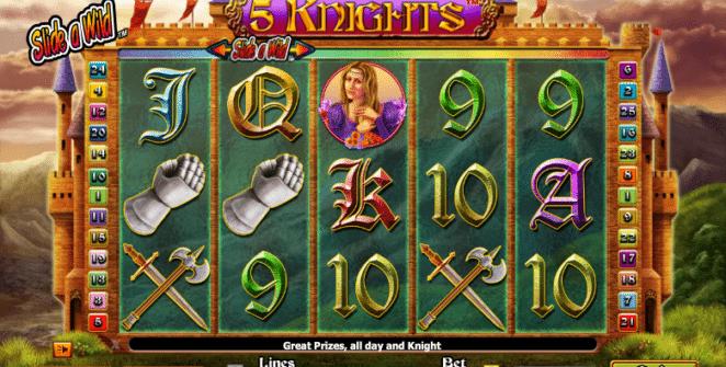 Joaca gratis pacanele 5 Knights online