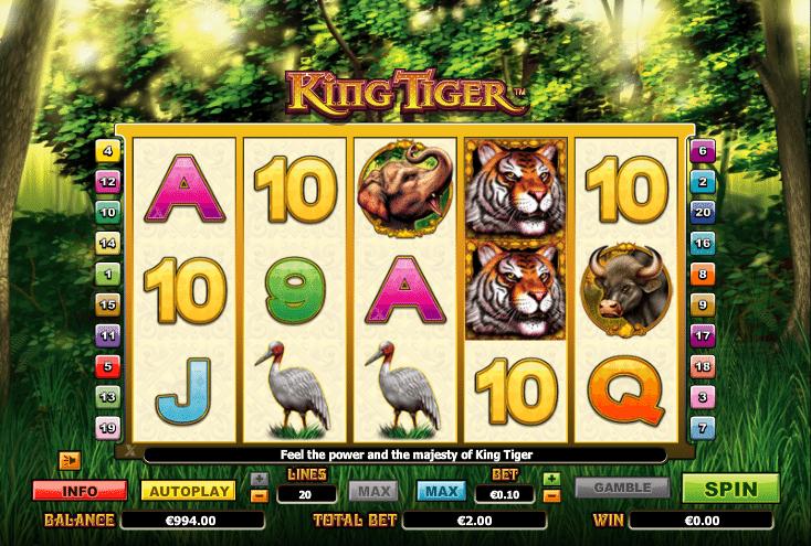 Joaca gratis pacanele King Tiger online