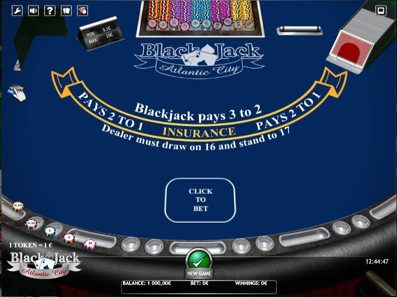 Joaca gratis pacanele BlackJack Atlantic City iSoft online