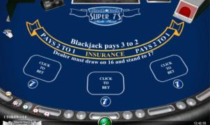 Jocul de cazino online BlackJack Super 7s Multihand gratuit