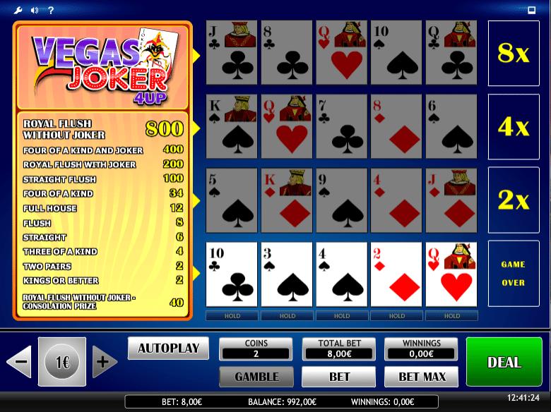 Jocuri Pacanele Joker Vegas 4UP Online Gratis