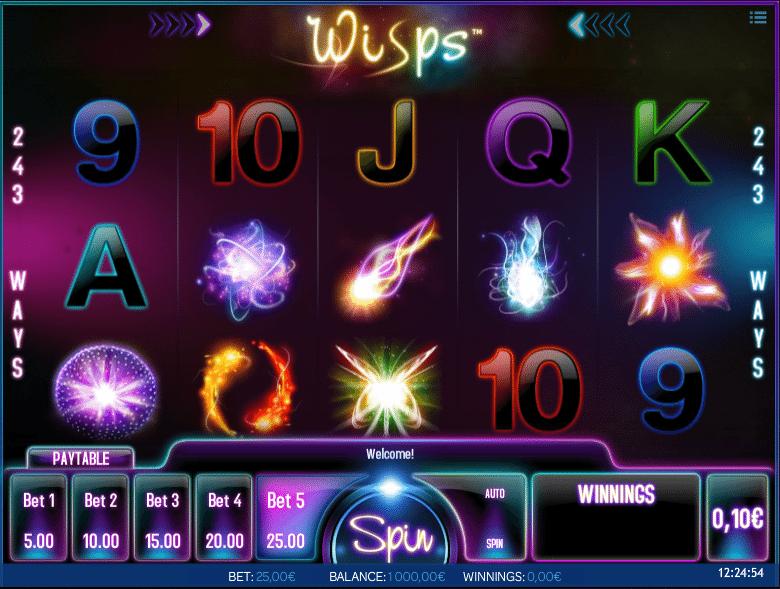 Jocul de cazino online Wisps gratuit