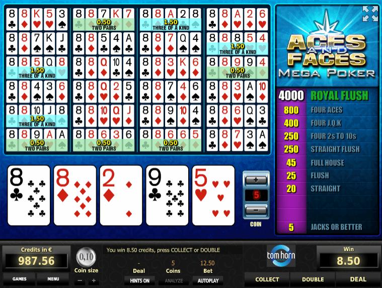 Aces and Faces MP gratis joc ca la aparate online