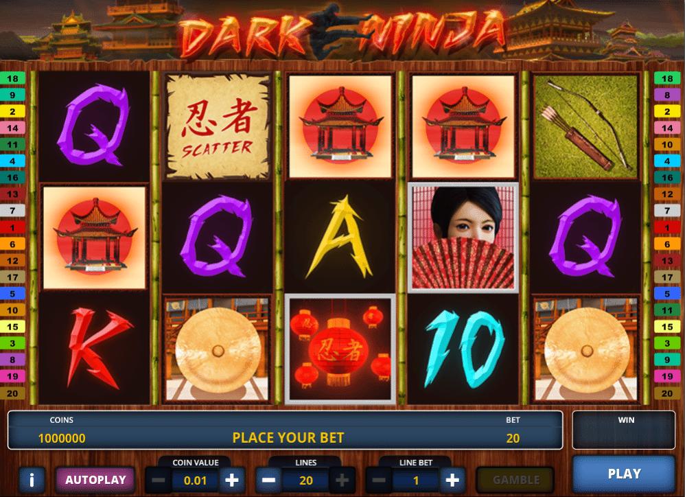 Joaca gratis pacanele Dark Ninja online