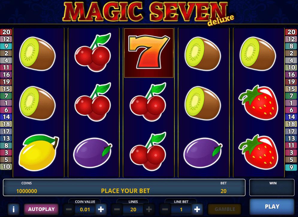 Magic Seven Deluxe gratis joc ca la aparate online