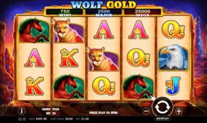 Jocul de cazino online Wolf Gold gratuit
