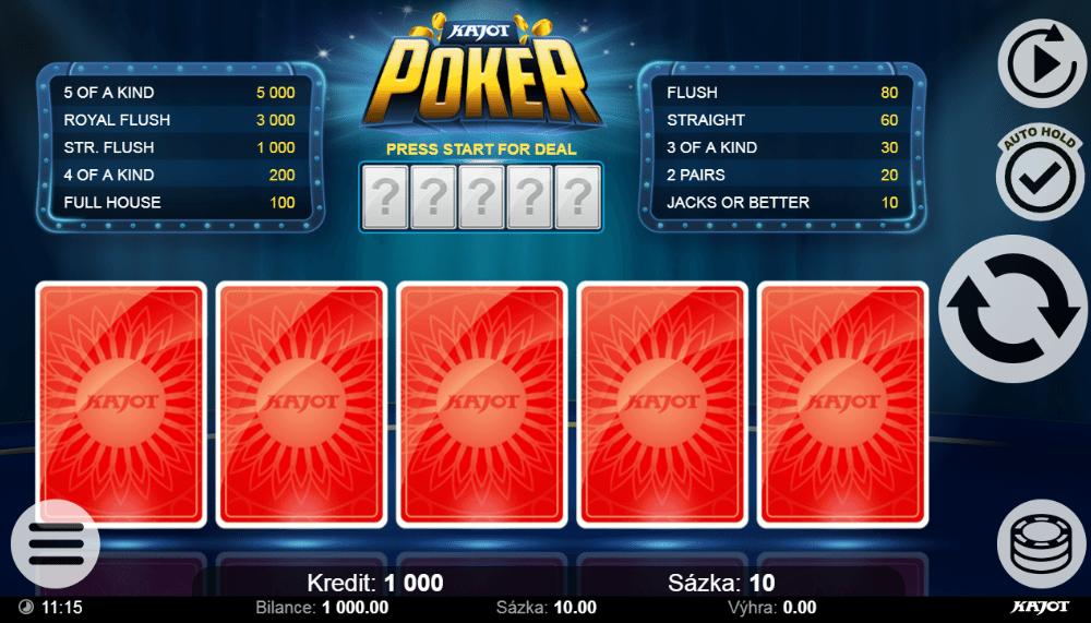 Kajot Poker gratis joc ca la aparate online