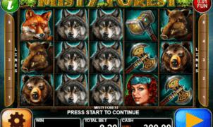 Joaca gratis pacanele Misty Forest online