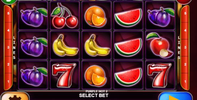 Jocul de cazino online Purple Hot 2 gratuit