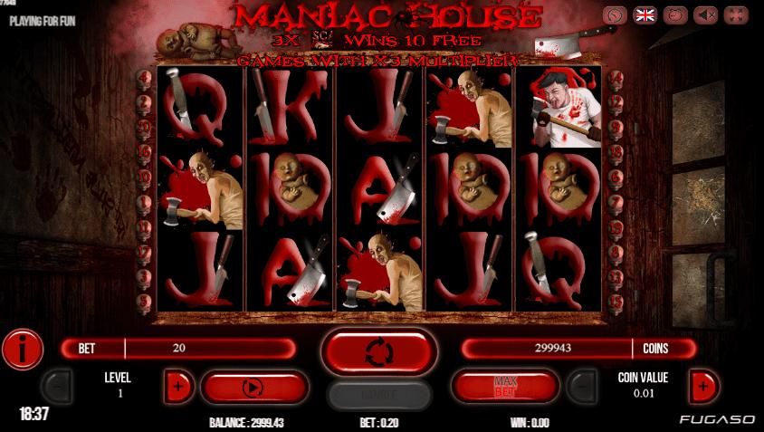 Maniac House gratis joc ca la aparate online